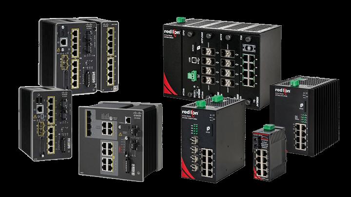 Industrial Ethernet Switches verschiedener Hersteller