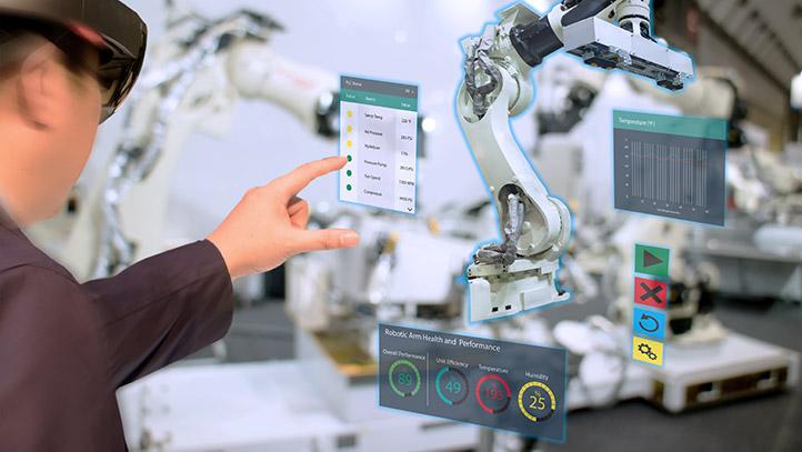 Maschinenüberwachung mittels Virtual und Augmented Reality