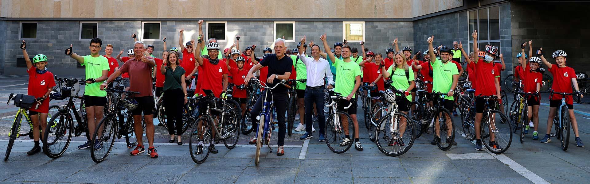Gruppenfoto beim Start in Heilbronn